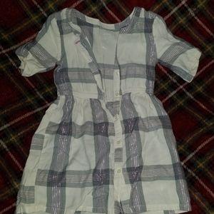 Little girls plaid  button dress size 4
